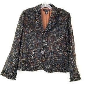 Parisian Signature Jacket Fringe Chenille Tweed